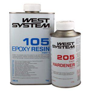 West System A-pakke 1,2 kg, herder 205 Standard