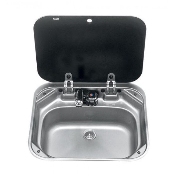 Vask SMEV, nedfellbar og med besk.plate. (Passer med Komfyrplate SMEV)