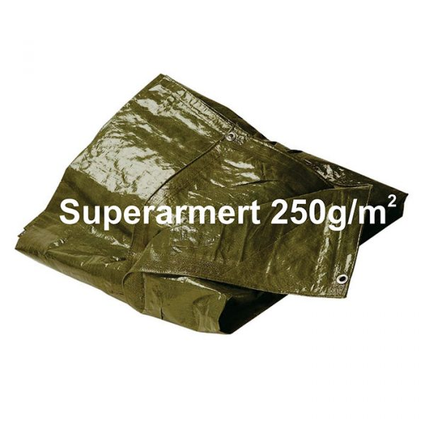 Presenning Superarmert 250g/m² 5,00m x 7,00m