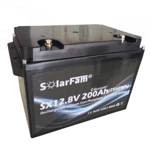 Solarfam Lithium Batteri m/bluetooth 12V 200Ah 150A BMS