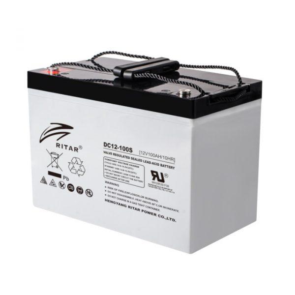 Ritar DC12-100 AGM-batteri 100Ah