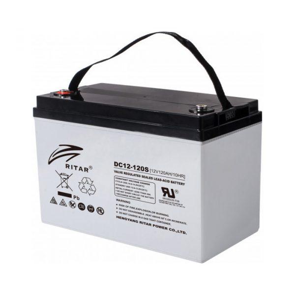 Ritar DC12-120 AGM-batteri 120Ah