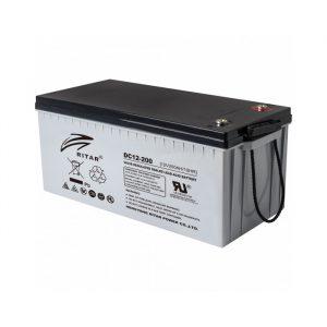 Ritar DC12-200 AGM-batteri 200Ah