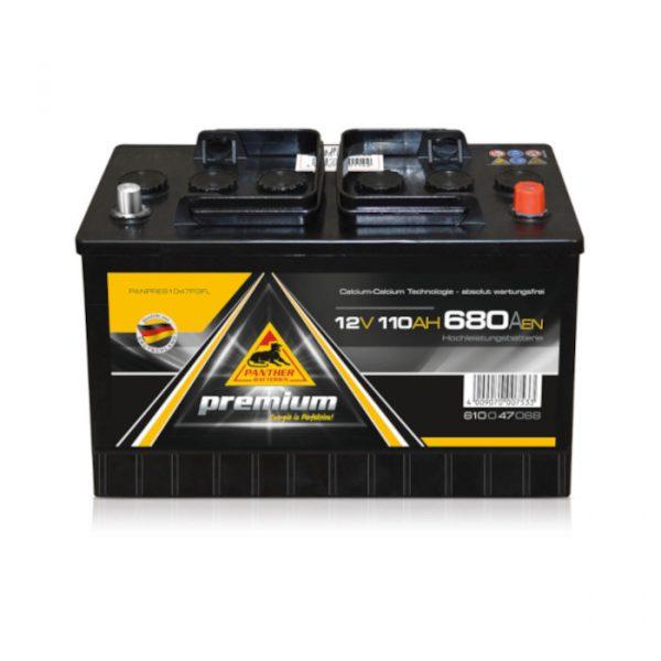 Panther batteri 610 47 - 110Ah 680CCA
