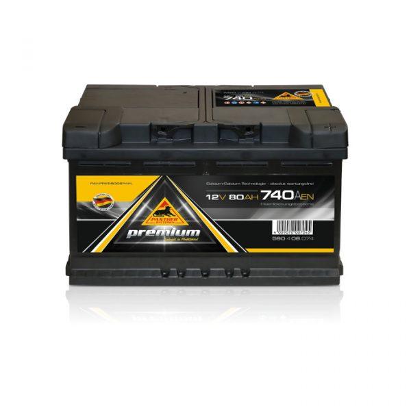Panther Batteri 580 00 - 80Ah 740CCA